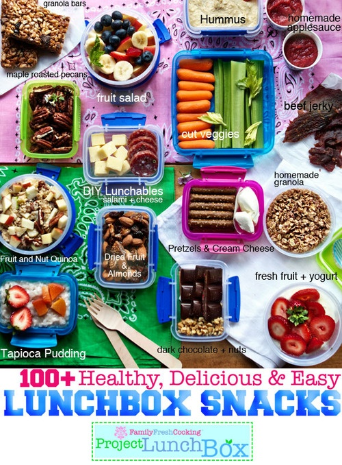 Easy healthy snack ideas for work