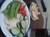 Lunch of the day || Veggies, Cheese, Apples